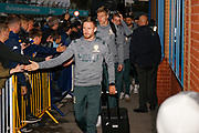 Leeds United defender Barry Douglas (3) arrives during the EFL Sky Bet Championship match between Leeds United and West Bromwich Albion at Elland Road, Leeds, England on 1 October 2019.