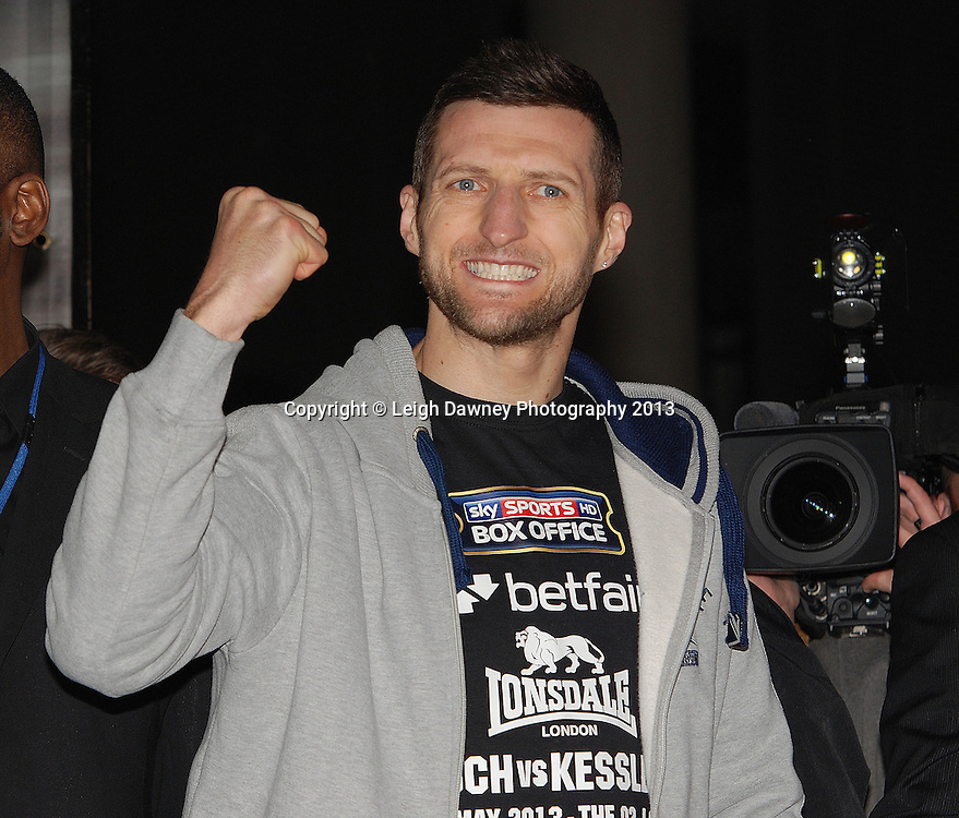 Carl Froch (pictured) after the Public Weigh In at London Piazza, 02 Arena, London, United Kingdom. 24.05.13. Credit © Leigh Dawney Photography 2013.