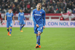 March 18, 2018 - Turin, Piedmont, Italy - Giovanni Simeone (ACF Fiorentina) during the Serie A football match between Torino FC and ACF Fiorentina at Olympic Grande Torino Stadium on 18 March, 2018 in Turin, Italy. Final results: 1-2  (Credit Image: © Massimiliano Ferraro/NurPhoto via ZUMA Press)