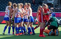 ANTWERP - BELFIUS EUROHOCKEY Championship.  women  England v Belarus (4-3) . Laura Unsworth (Eng) scored. England is celebrating the goal.  WSP/ KOEN SUYK