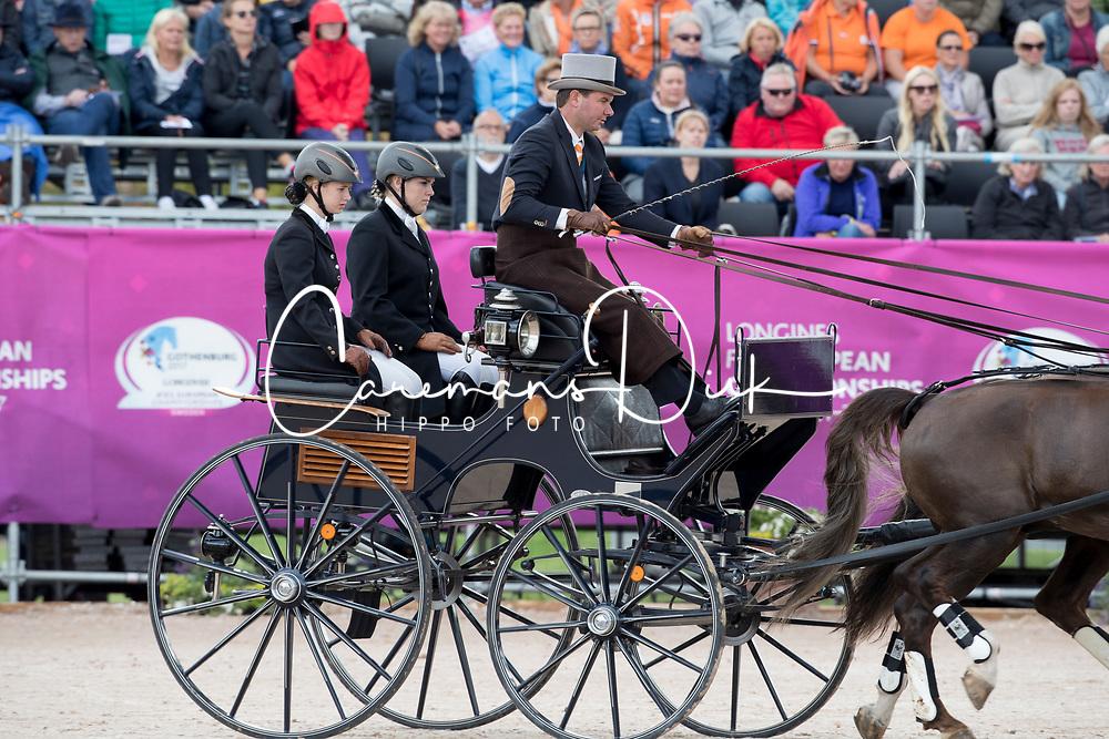 De Ronde Koos, NED, Alino, Cupido, Palero, Ulano, Zimon<br /> FEI European Driving Championships - Goteborg 2017 <br /> &copy; Hippo Foto - Dirk Caremans