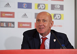 BARRY, WALES - Thursday, October 3, 2019: Wales' head of public affairs Ian Gwyn Hughes during a press conference announcing the squad for the forthcoming UEFA Euro 2020 Qualifying Group E qualifying matches against Slovakia and Croatia. (Pic by David Rawcliffe/Propaganda)