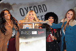 The Saturdays turn on the Oxford Street xmas lights in London, Tuesday 1st November 2011. Photo by: Stephen Lock/i-Images