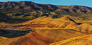 Panoramic of The Painted Hills in the John Day Fossil Beds National Monument near Mitchell, Oregon, USA