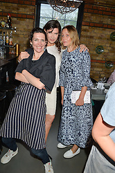 Left to right, ,THOMASINA MIERS RONNI ANCONA and KATE SPICER at Fork to Fork - a Fundraising Feast to support The Open Air Classroom Project held at The Dock Kitchen, Portobello Docks, 342-344 Ladbroke Grove, London on 19th May 2015.