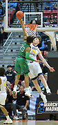 SAN DIEGO, CA - MARCH 18:  West Virginia Mountaineers forward Logan Routt (31) blocks a shot attemp from Marshall Thundering Herd guard Rondale Watson (23) during a second round game of the Men's NCAA Basketball Tournament at Viejas Arena in San Diego, California. West Virginia won 94-71.  (Photo by Sam Wasson)
