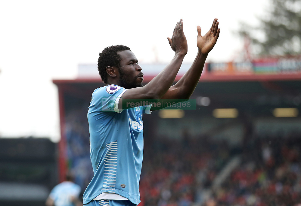 Stoke City's Mame Biram Diouf celebrates scoring his side's secong goal during the Premier League match at the Vitality Stadium, Bournemouth.