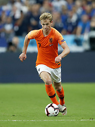 Frenkie de Jong of Holland during the UEFA Nations League A group 1 qualifying match between France and The Netherlands on September 09, 2018 at Stade de France in Saint Denis,  France