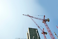Crane above construction sites