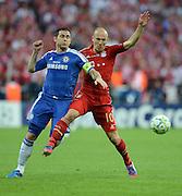 FUSSBALL   SAISON 2011/2012   CHAMPIONS LEAGUE FINALE FC Bayern Muenchen - FC Chelsea  19.05.2012 Frank Lampard (li, FC Chelsea) gegen Arjen Robben (re, FC Bayern Muenchen)