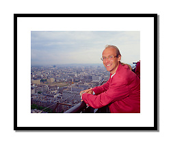 Laurent Fignon, Paris 1992<br /> <br /> Shot as part of a Cycle Sport feature with Laurent Fignon. Despite being a Parisian, it was the first time Fignon had ever been up the Eiffel Tower as he suffered from vertigo.