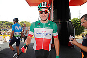 Podium, Elia Viviani (ITA - QuickStep - Floors) during the UCI World Tour, Tour of Spain (Vuelta) 2018, Stage 3, Mijas - Alhaurin de la Torre 178,2 km in Spain, on August 27th, 2018 - Photo Luis Angel Gomez / BettiniPhoto / ProSportsImages / DPPI