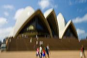 Tourists at Sydney Opera House,  New South Wales, Australia