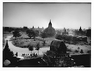 Some of the more than 3,000 Buddhist temples of Bagan bathed in the morning sun, Burma (Myanmar).