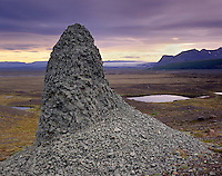 Volcanic rock on a glacial moraine, Skaftafell National Park Iceland, Europe