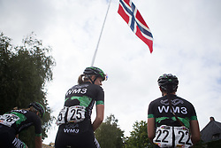 WM3 Pro Cycling Team riders cool down after Stage 2 of the Ladies Tour of Norway - a 140.4 km road race, between Sarpsborg and Fredrikstad on August 19, 2017, in Ostfold, Norway. (Photo by Balint Hamvas/Velofocus.com)