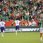 Bruno Alves , Portugal, celebrates after heading the winning goal in stoppage time to give Portugal a 1-0 victory during the Portugal V Mexico International Friendly match in preparation for the 2014 FIFA World Cup in Brazil. Gillette Stadium, Boston (Foxborough), Massachusetts, USA. 6th June 2014. Photo Tim Clayton