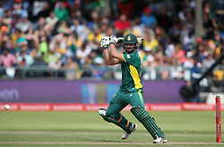 Rilee Rossouw of South Africa plays a delivery through the covers during the 5th ODI match between South Africa and Australia held at Newlands Stadium in Cape Town, South Africa on the 12th October  2016<br /> <br /> Photo by: Shaun Roy/ RealTime Images