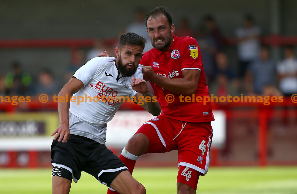 Crawley's Josh Payne during the pre season friendly between Crawley Town and KSV Roeselare at The Broadfield Stadium, Crawley , UK. 28 July 2018.