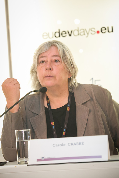 03 June 2015 - Belgium - Brussels - European Development Days - EDD - Growth - Responsible management of supply chains-The case of the garment sector - Carole Crabbe , General Secretary , Clean Clothes Campaign Belgium (achACT) © European Union