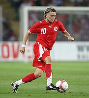 Fussball International Laenderspiel Schweiz 2-0 Costa Rica Daniel Gygax (SUI) am Ball