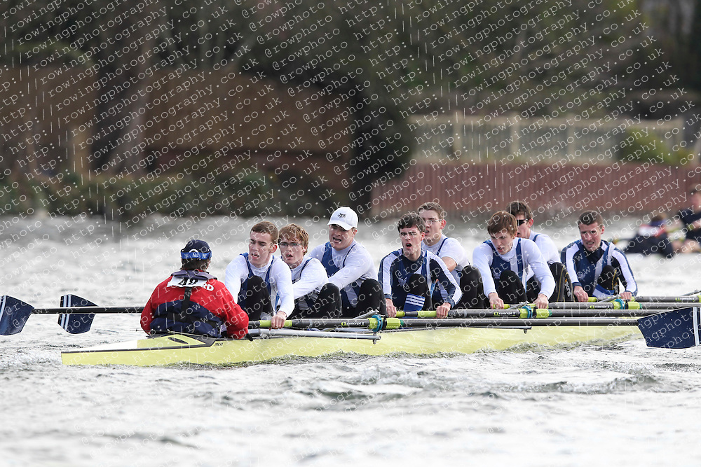 2012.02.25 Reading University Head 2012. The River Thames. Division 1. Bedford School Boat Club IM3 8+