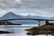 The Skye Bridge (Scottish Gaelic: Drochaid an Eilein Sgitheanaich) is a road bridge over Loch Alsh, Scotland, connecting the Isle of Skye to the island of Eilean Bàn. The name is also used for the whole Skye Crossing, which further connects Eilean Bàn to the mainland across the Carrich Viaduct.