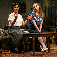 The Chalk Garden by Enid Bagnold;<br /> Directed by Alan Strachan;<br /> Emma Curtis (as Laurel);<br /> Amanda Root (as Miss Madrigal);<br /> Chichester Festival Theatre, Chichester.<br /> 30 May 2018.<br /> © Pete Jones<br /> pete@pjproductions.co.uk