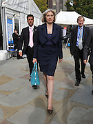 © Licensed to London News Pictures. 04/10/2011. MANCHESTER. UK. The Rt Hon Theresa May MP, Secretary of State for the Home Department and Minister for Women and Equalities at The Conservative Party Conference at Manchester Central today, October 4, 2011. Photo credit:  Stephen Simpson/LNP