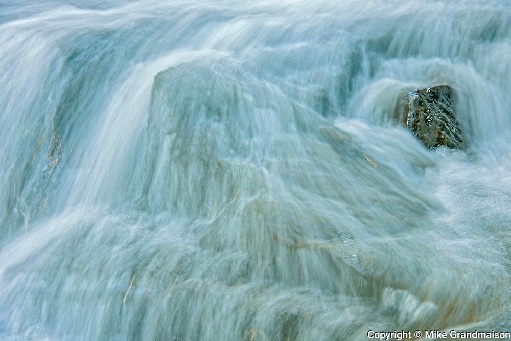 Skeleton River at Hatchery Falls in autumn, Near Rosseau, Ontario, Canada