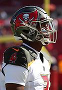 Nov 25, 2018; Tampa, FL, USA; Tampa Bay Buccaneers quarterback Jameis Winston (3) before an NFL game between the Tampa Bay Buccaneers and the San Francisco 49ers at Raymond James Stadium. The Buccaneers beat the 49ers 27-9. (Steve Jacobson/Image of Sport)