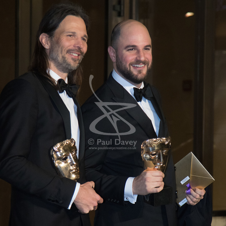 Photo Must Be Credited ©Alpha Press<br /> Linus Sandgren and XXX arrives at the EE British Academy Film Awards after party dinner at the Grosvenor House Hotel in London.