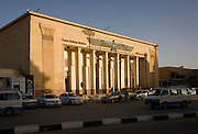 The exterior of the main railway station in modern Luxor, Nile Valley, Egypt.