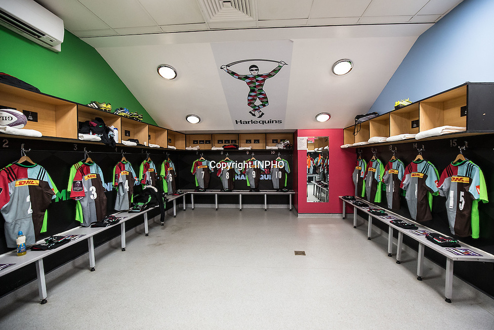 European Rugby Challenge Cup Semi-Final, The Twickenham Stoop, London, England 22/4/2016<br /> Harlequins vs Grenoble<br /> A view of the Harlequins dressing room <br /> Mandatory Credit &copy;INPHO/Dan Sheridan