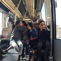school kids on the metro, Paris