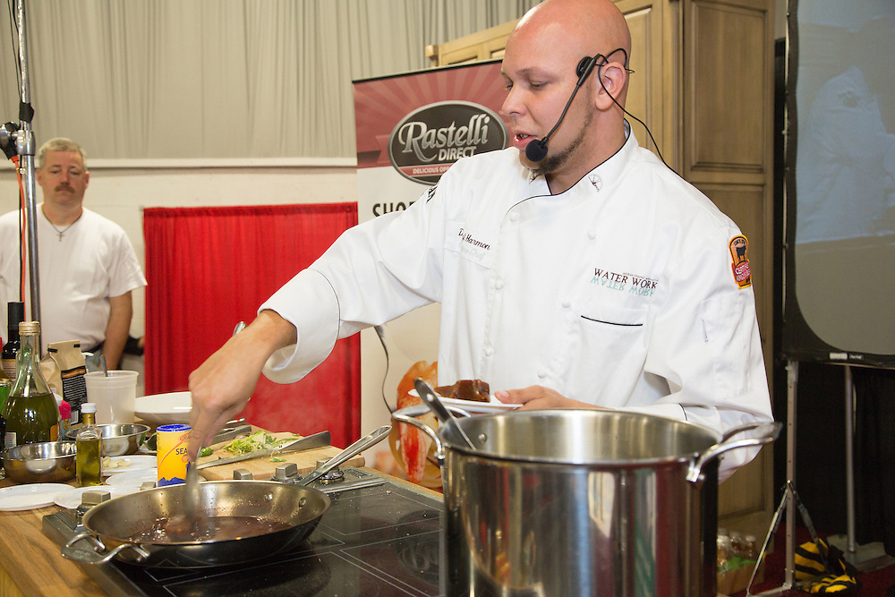 Hundreds of vendors display a variety of foods, wines and liquors at the TASTE Festival of Food, Wine and Spirits. The festival draws thousands of attendees each year to sample and learn from dozens of culinary demonstrations performed by some of the nations top chefs.