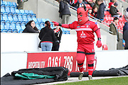 Salford Reds mascot during the Betfred Super League match between Salford Red Devils and Catalan Dragons at the AJ Bell Stadium, Eccles, United Kingdom on 30 March 2018. Picture by George Franks.