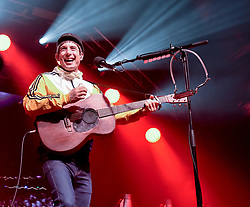 Pictured: Scottish singer Gerry Cinnamon took the revellers by storm.<br /> <br /> 60,000 revellers packed into central Edinburgh to bring in the New Year. Franz Ferdinand headlined the concert in the gardens, with a spectacular firework display bringing in 2019.<br /> <br /> © Dave Johnston / EEm