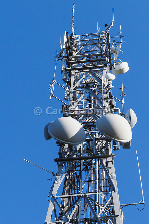 microwave and mobile radio antennas on cellsite tower on Mt Coot-tha, Brisbane