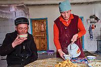 Mongolie, province de Bayan-Olgii, Yerkhalym, chasseur à l'aigle Kazakh // Mongolia, Bayan-Olgii province, Yerkhalym, Kazakh eagle hunter