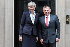 2017-03-01 King Abdullah II of Jordan visits British Prime Minister Theresa May at Downing Street