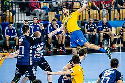 Diogo Silva of RK Celje Pivovarna Lasko during handball match between RK Celje Pivovarna Lasko (SLO) and of MOL Pick Szeged (HUN) in 9th Round of EHF Champions League 2019/20, on November 24, 2019 in Arena Zlatorog, Celje, Slovenia. Photo Grega Valancic / Sportida