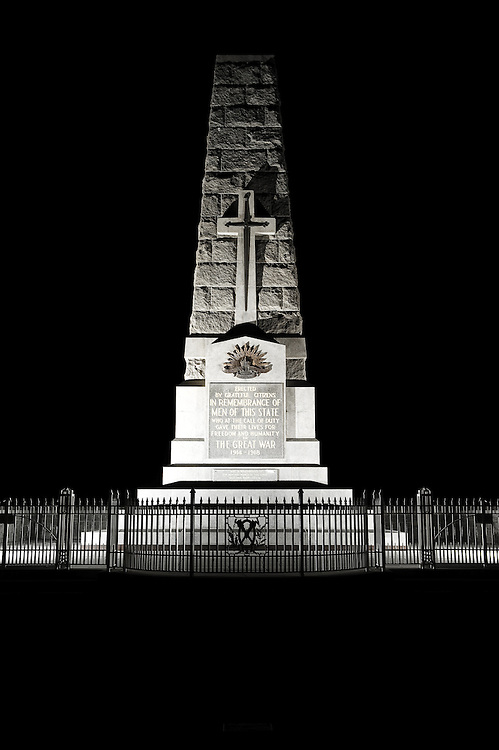 The State War Memorial was erected in 1929 and are dedicated to those who died during service to Australia.
