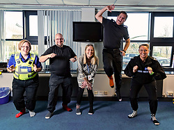 Pictured: PCSO Marie Williams, SGT Colin Clarkson, DC Kerry Kinroy, Insp Andy Morrice, and SGT Rebekah Czajkowski<br /> Police officers at Boston Police Station were on their toes to support the Odd-Socks anti-bullying campaign.  The Bobby-soxers need to protect those feet as winter heads their way.<br /> <br /> James Sullivan| EEm 12 November 2018