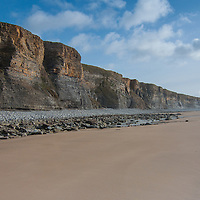 Cliffs facing beach