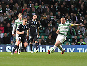 Dundee's Simon Ferry and Celtic's Scott Brown -  Celtic v Dundee - SPFL Premiership at Celtic Park<br /> <br /> <br />  - © David Young - www.davidyoungphoto.co.uk - email: davidyoungphoto@gmail.com