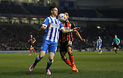 Brighton's Greg Halford on the ball during the Sky Bet Championship match between Brighton and Hove Albion and Bournemouth at the American Express Community Stadium, Brighton and Hove, England on 10 April 2015. Photo by Phil Duncan.