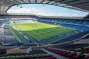 General view inside BT Murrayfield Stadium, Edinburgh, Scotland before the Guinness Six Nations match between Scotland and Wales on 9 March 2019.