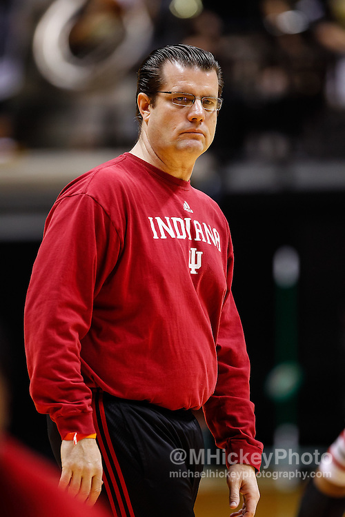 WEST LAFAYETTE, IN - JANUARY 30: Assistant coach Tim Buckley of the Indiana Hoosiers seen during warmups before the game against the Purdue Boilermakers at Mackey Arena on January 30, 2013 in West Lafayette, Indiana. Indiana defeated Purdue 97-60. (Photo by Michael Hickey/Getty Images) *** Local Caption *** Tim Buckley
