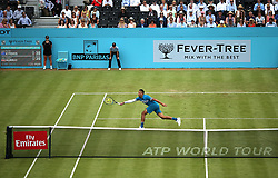 Australia's Nick Kyrgios during day two of the Fever-Tree Championship at the Queens Club, London.